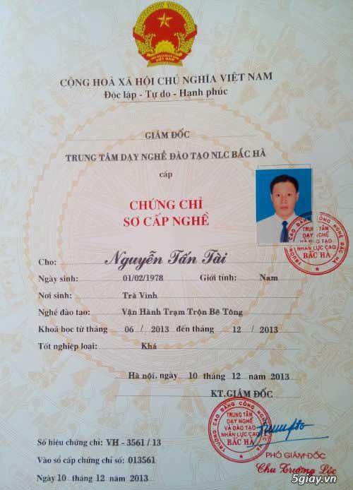 Chung Chi Van Hanh May Xay Dung