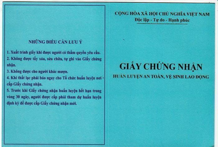 Giay Chung Nhan An Toan Lao Dong